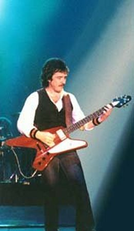 Buck playing his Balestra Vulcan in 1980
