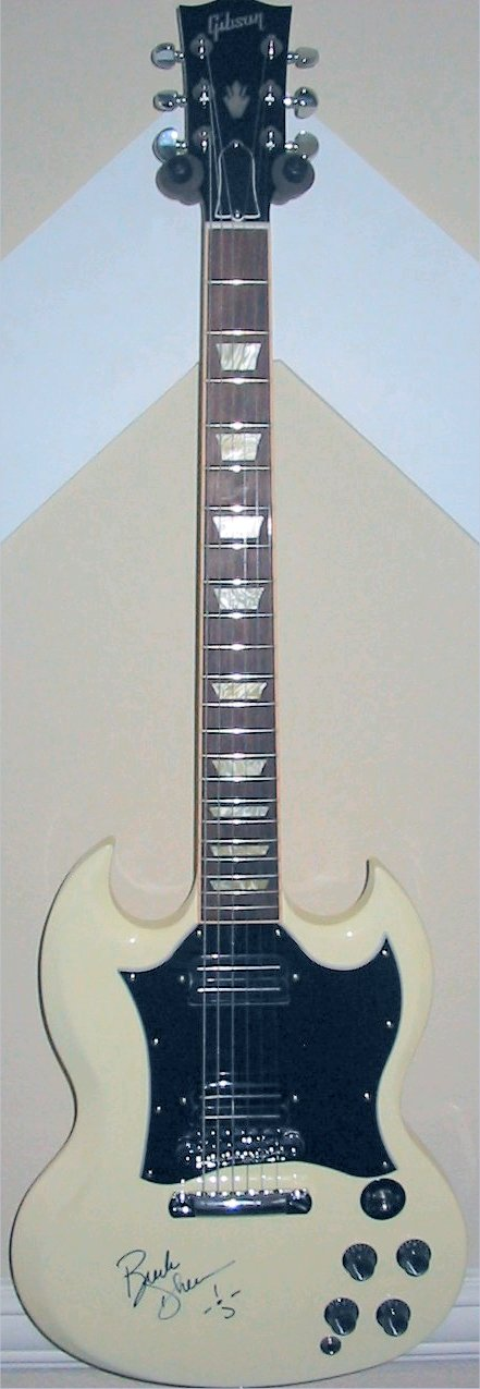 My 2005 White Gibson SG Standard